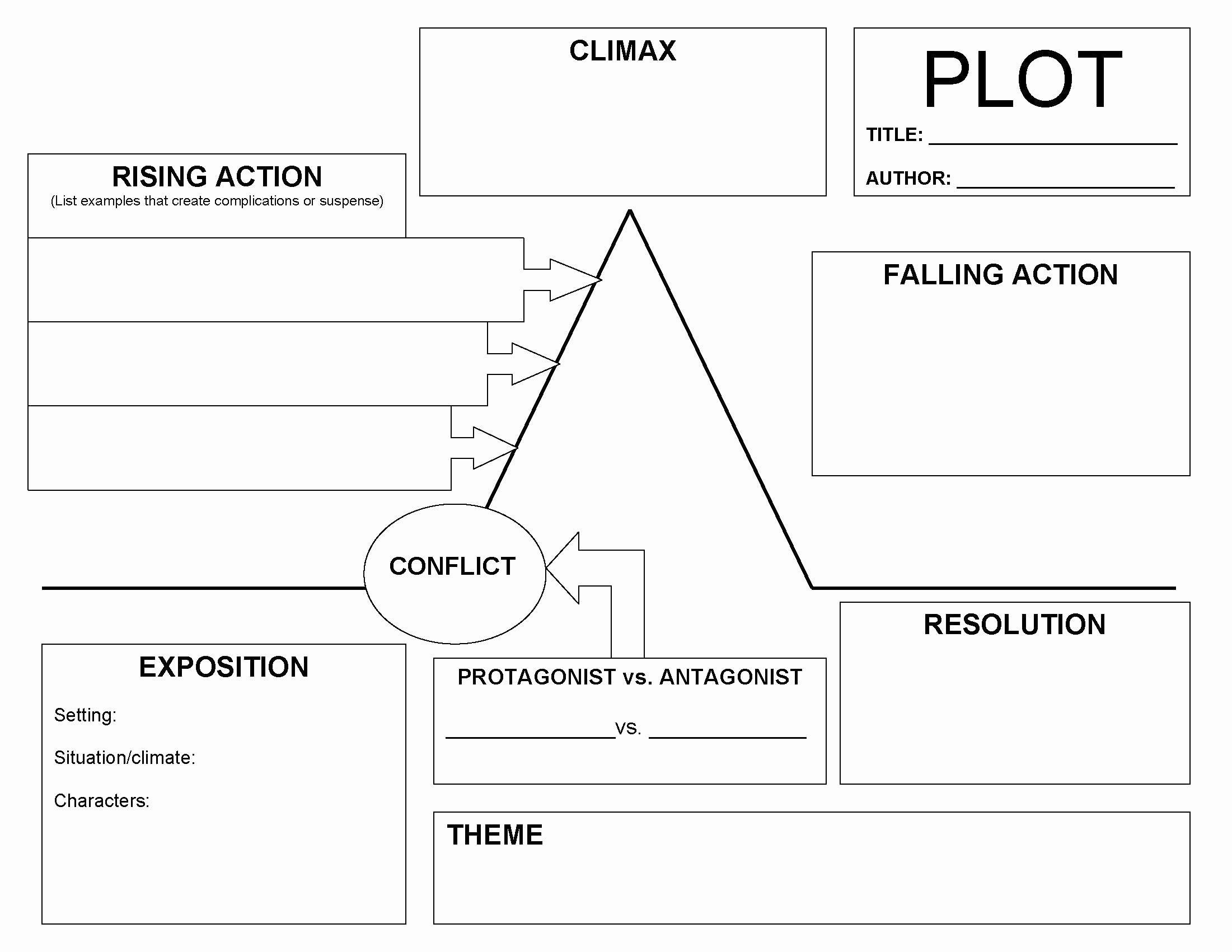 Plot Diagram Template Pdf Awesome Plot Diagram Graphic organizer Pdf 2018