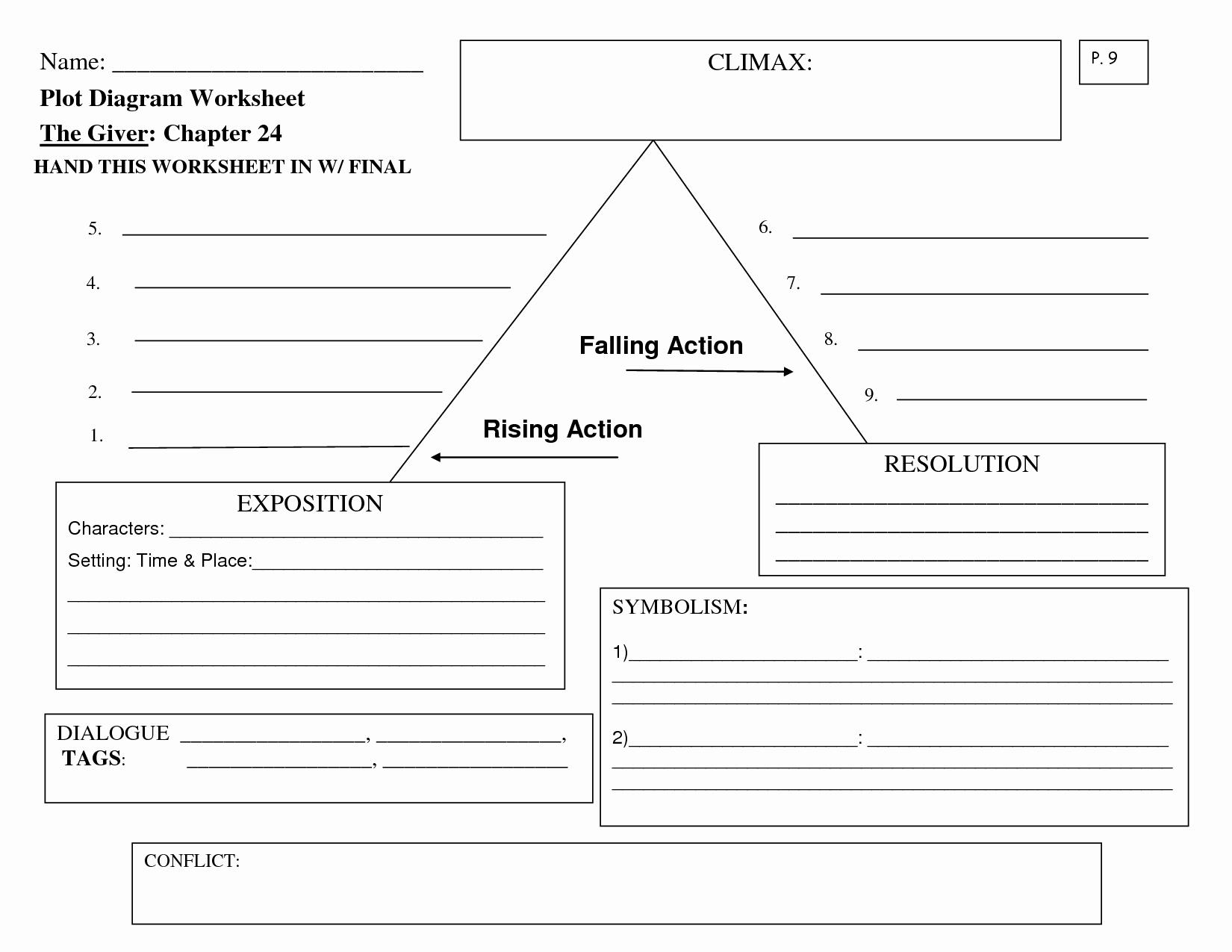 Plot Diagram Template Pdf New 9 Best Of Worksheets Plot Diagram Story Plot