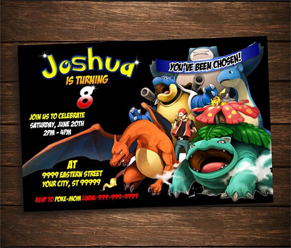 Pokemon Birthday Invitations Template Elegant 9 Pokemon Card Templates Psd Ai