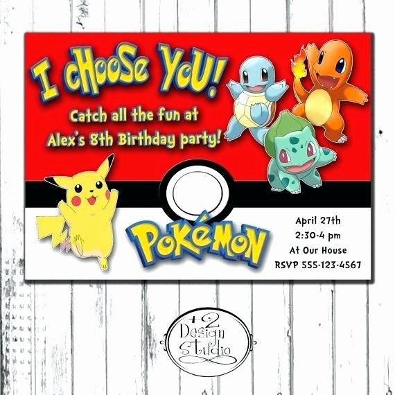 Pokemon Birthday Invitations Template New Frais Invitation Anniversaire Pokemon Ou Invitation