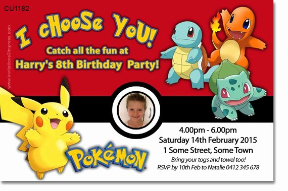 Pokemon Birthday Invitations Template Unique Pokemon Birthday Party Printable Invitations Page Three