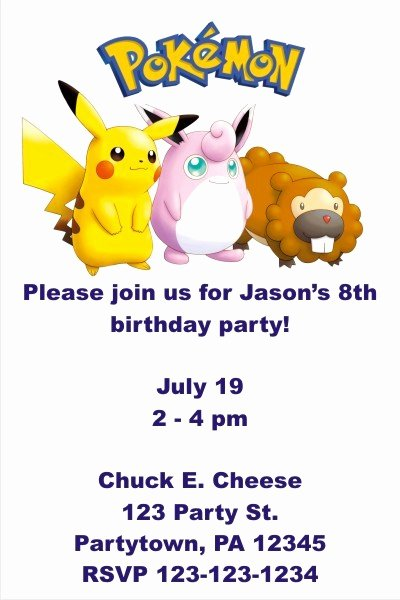 Pokemon Invitation Template Free Awesome Free Pokemon Invitation Templates Free Programs