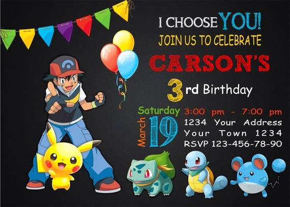 Pokemon Invitation Template Free Beautiful Pokemon Birthday Party Printable Invitations Page Two