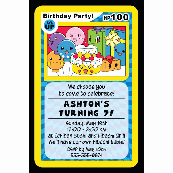 Pokemon Invitation Template Free Best Of 4 Best Of Free Printable Pokemon Birthday