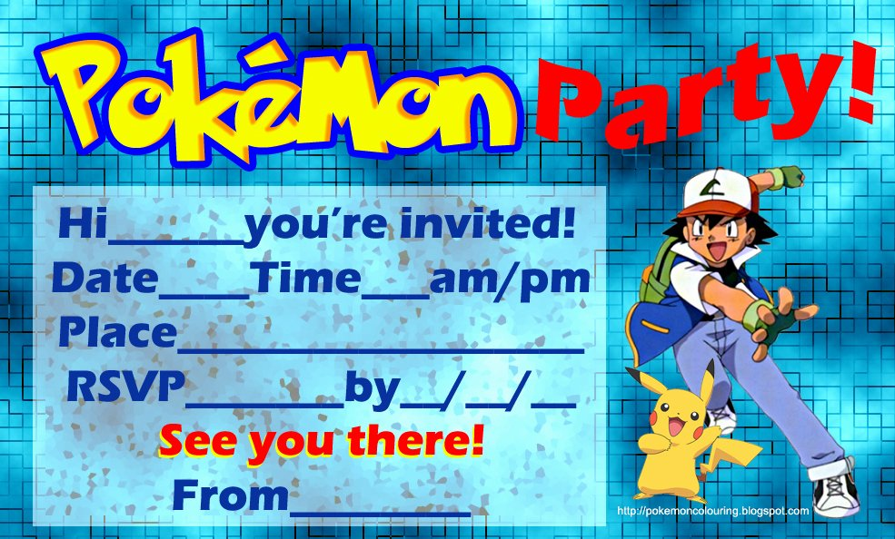 Pokemon Invitation Template Free Best Of Pokemon Coloring Pages