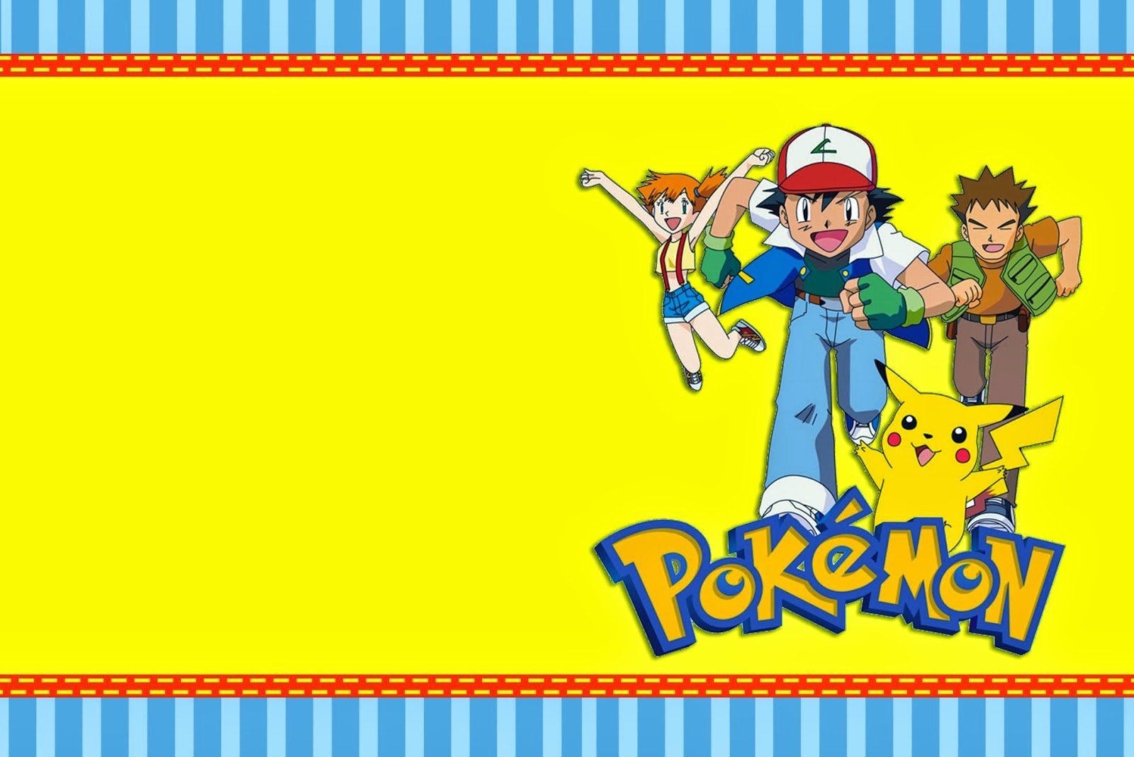 Pokemon Invitation Template Free Elegant 12 Superb Pokemon Birthday Invitations