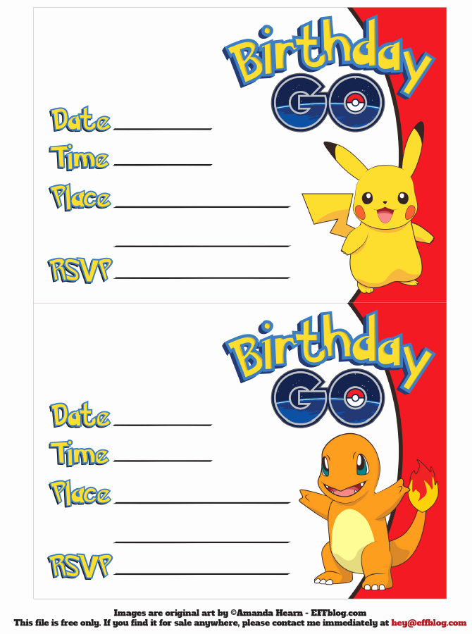 Pokemon Invitation Template Free Inspirational Pin by Crafty Annabelle On Pokemon Printables