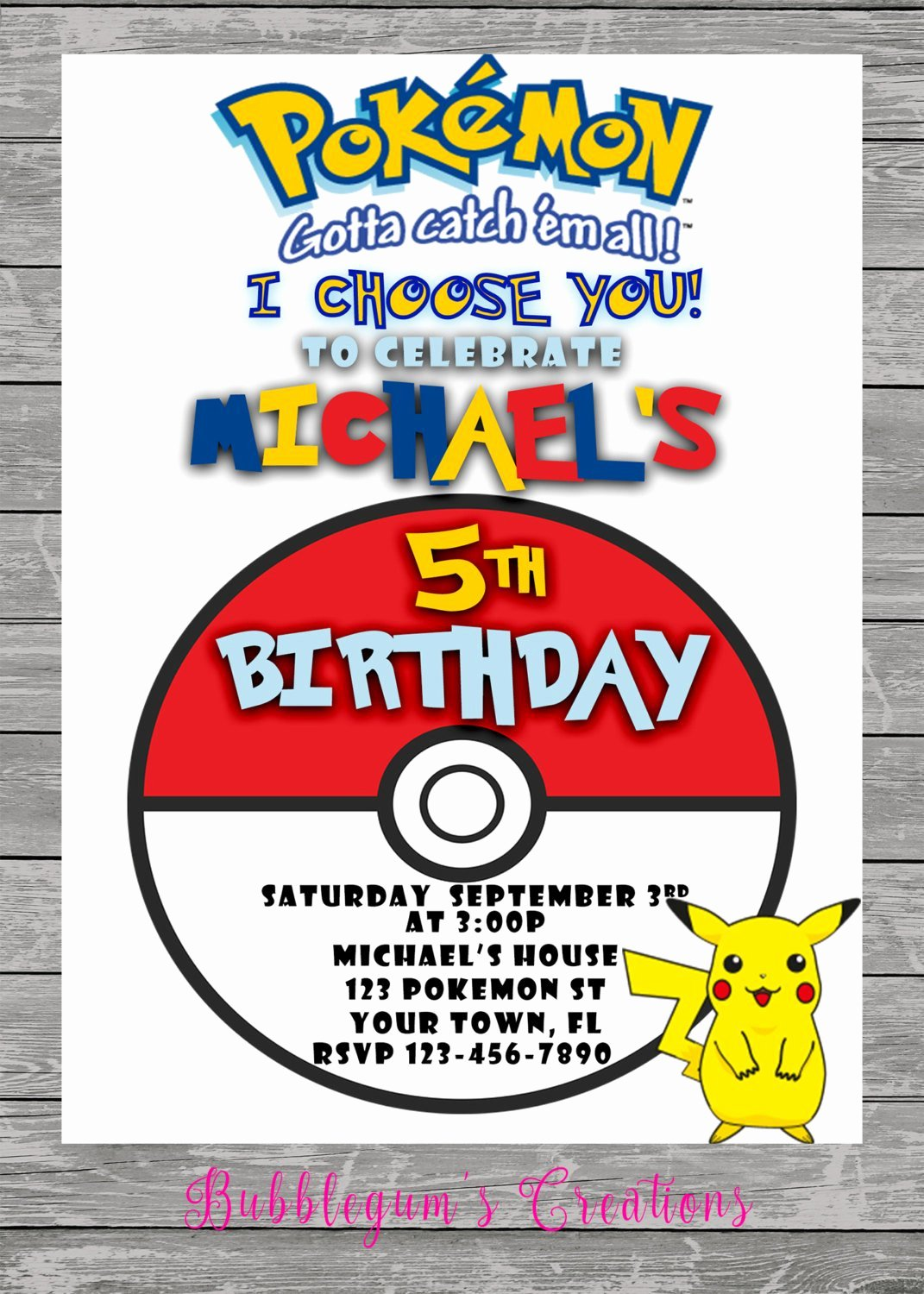 Pokemon Invitation Template Free Inspirational Pokemon Go Birthday Invitation Pokemon Invite
