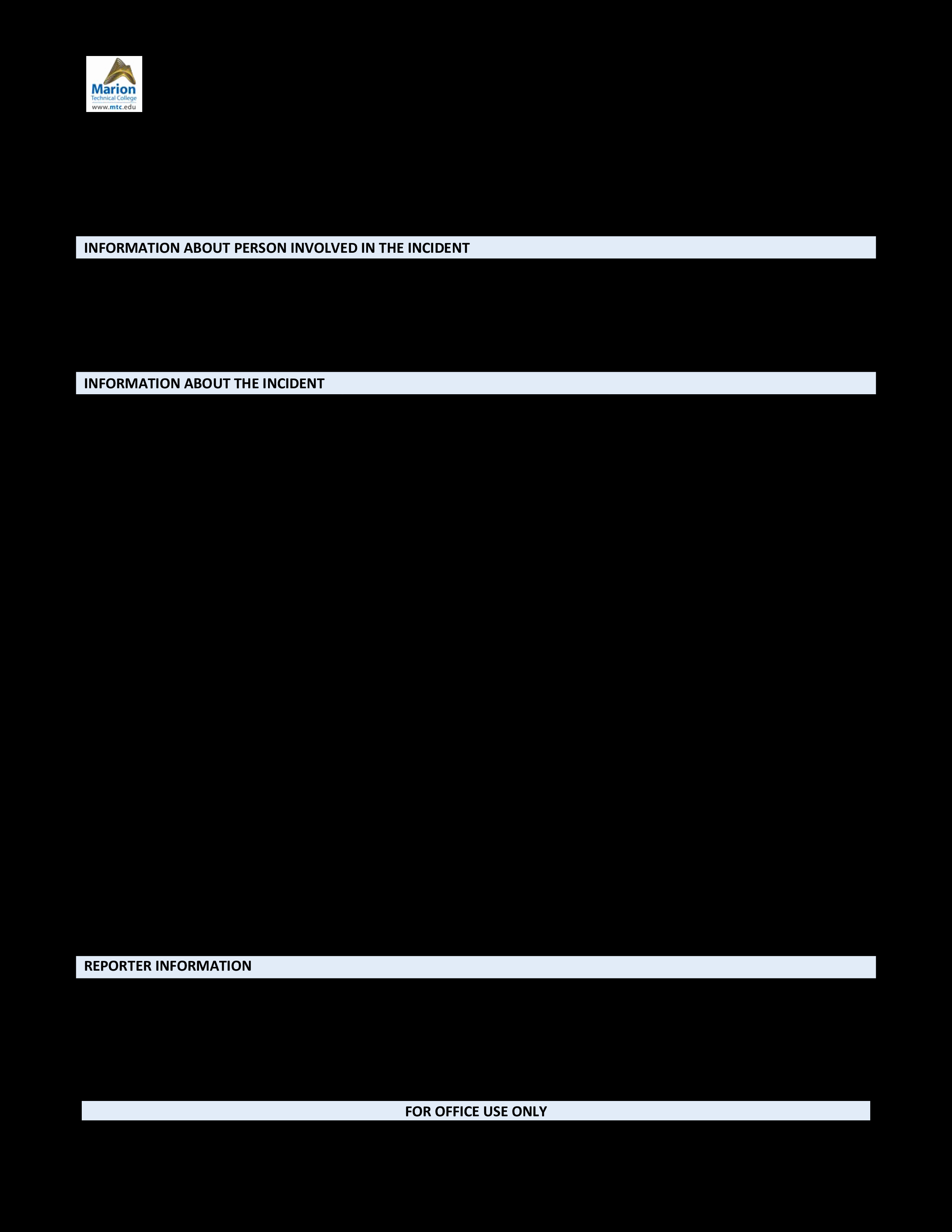 Police Incident Report Template Elegant Free Blank Police Report