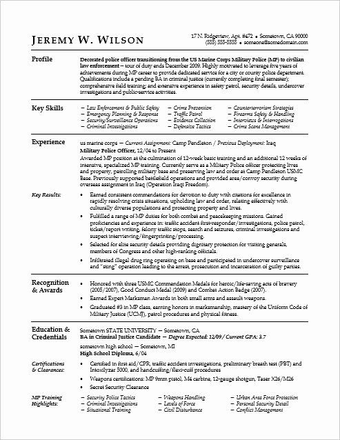 Police Officer Resume Template Beautiful Best 25 Police Officer Resume Ideas On Pinterest