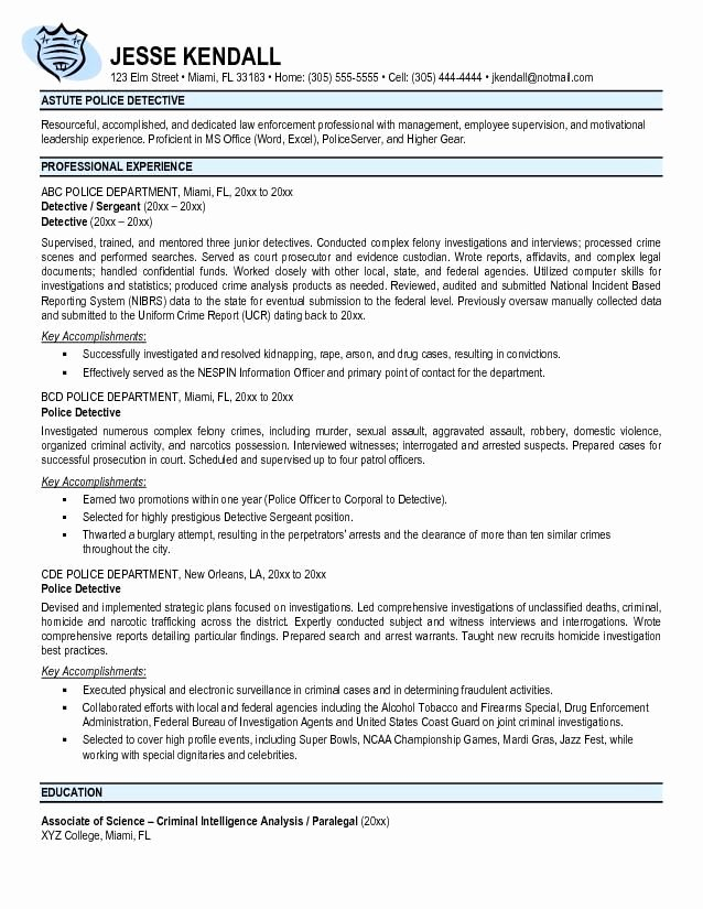 Police Officer Resume Template Lovely Best 25 Police Officer Resume Ideas On Pinterest
