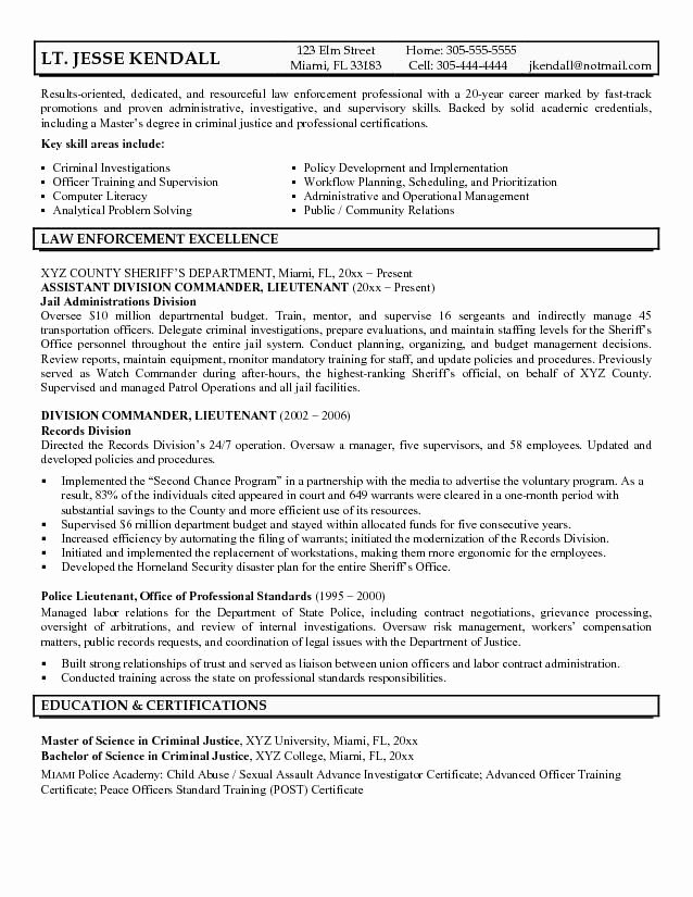 Police Officer Resume Template Luxury 25 Unique Police Officer Resume Ideas On Pinterest