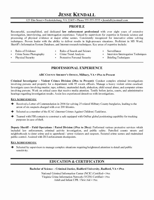 Police Officer Resume Template Luxury Pin by Ron Wiles On Resume