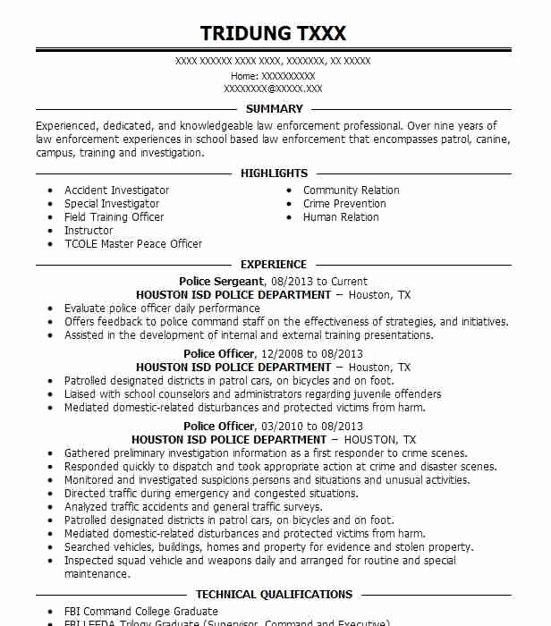 Police Officer Resume Template New Police Ficer Resume