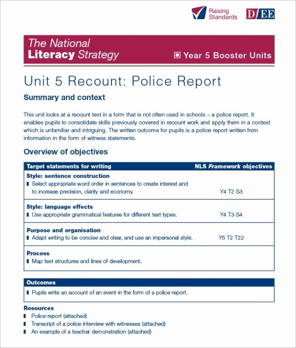 Police Report Template Pdf Awesome 17 Sample Police Report Templates Pdf Doc