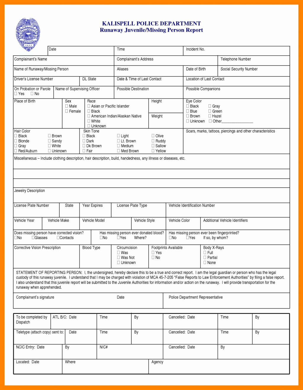 Police Report Template Pdf Best Of Policeeport Template Blank Pdf Example Ks2 Incident