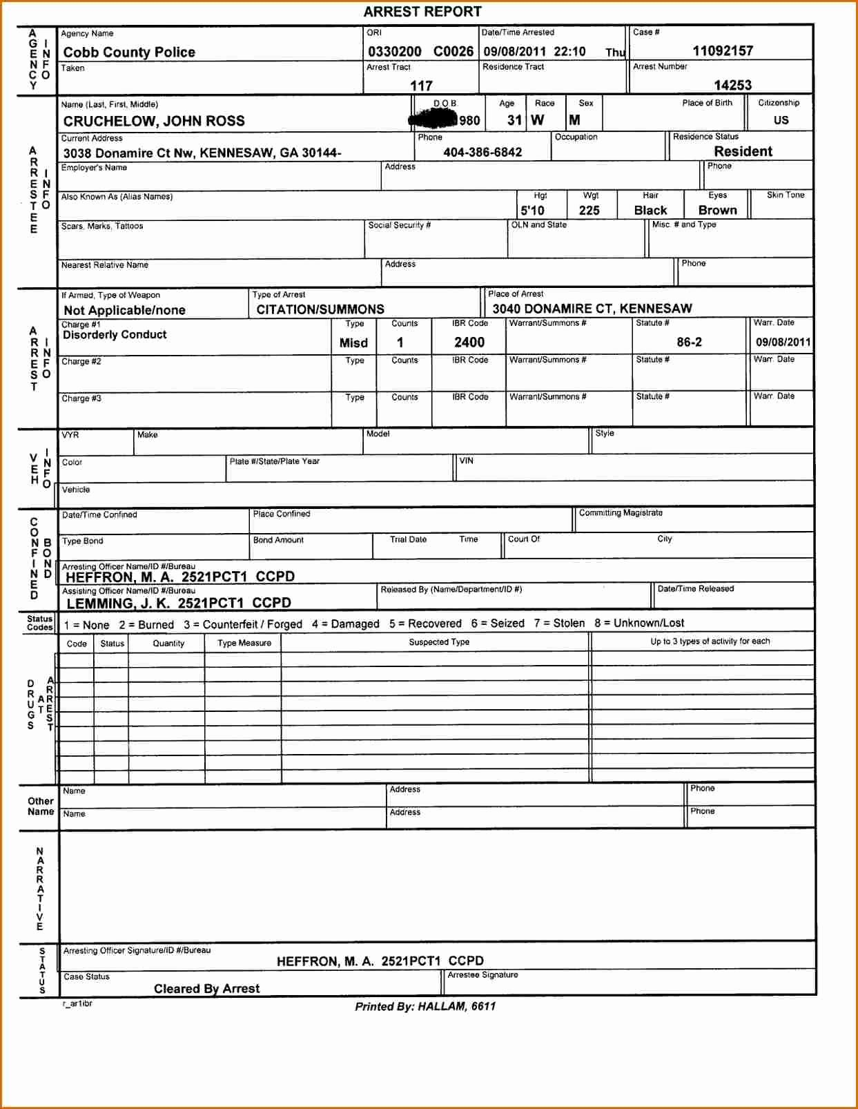 Police Report Template Pdf Elegant 4 Police Report Template