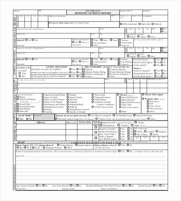Police Report Template Pdf Lovely 17 Sample Police Report Templates Pdf Doc
