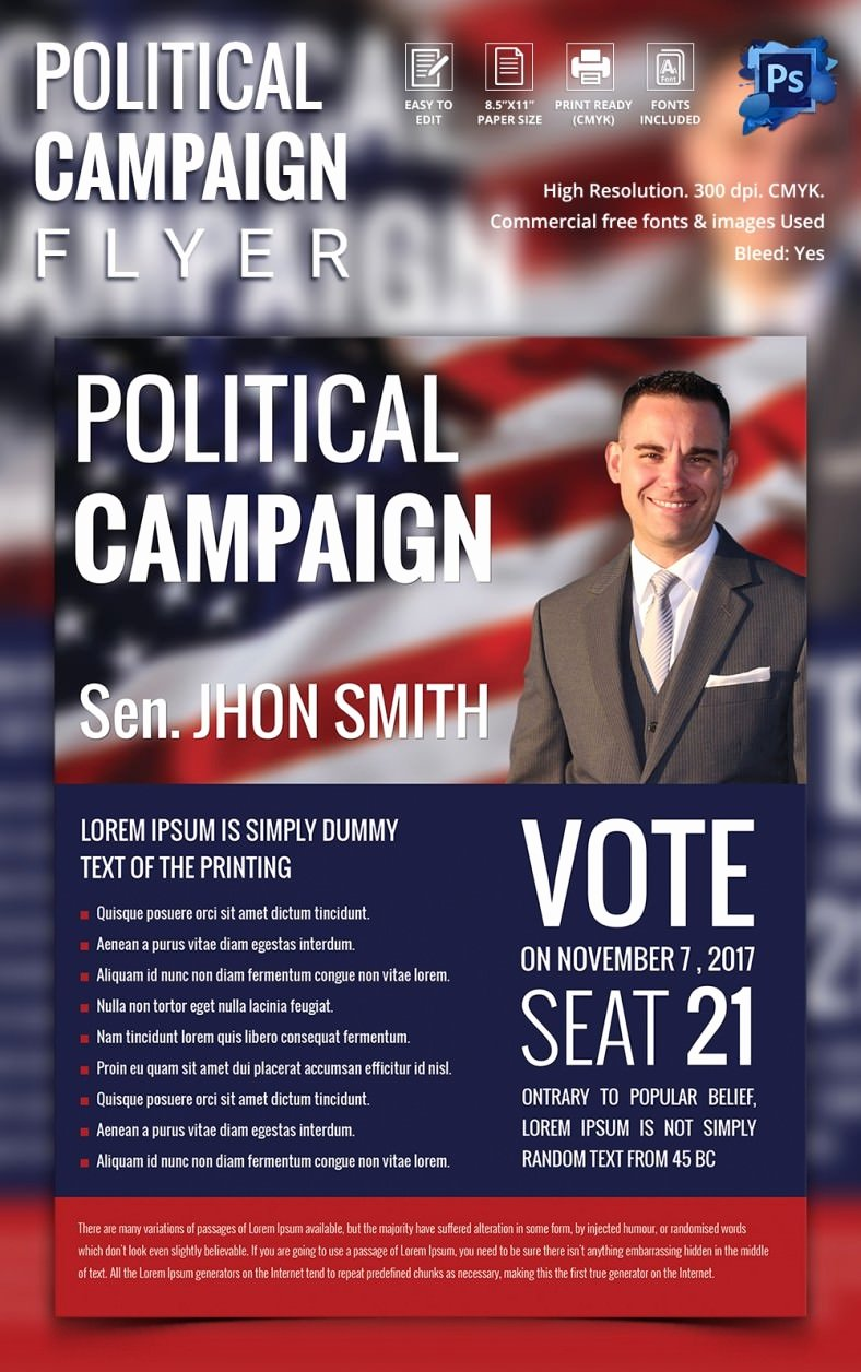 Political Campaign Plan Template Awesome Campaign Flyers – 31 Free Psd Ai Vector Eps format