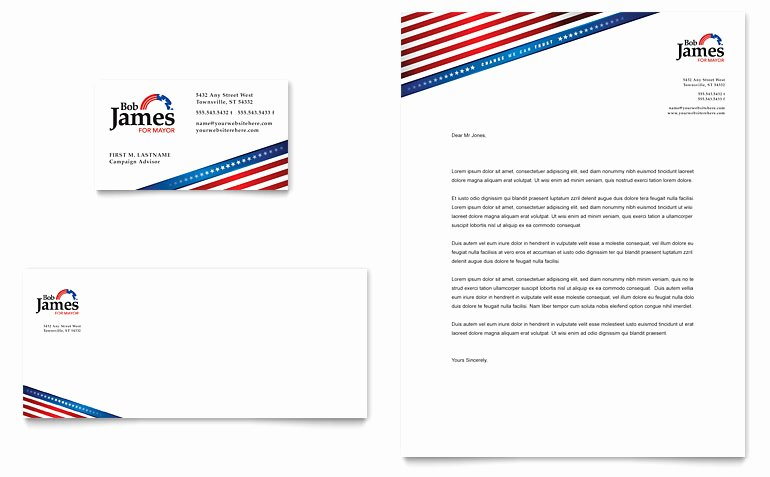 Political Campaign Plan Template Awesome Political Campaign Business Card & Letterhead Template