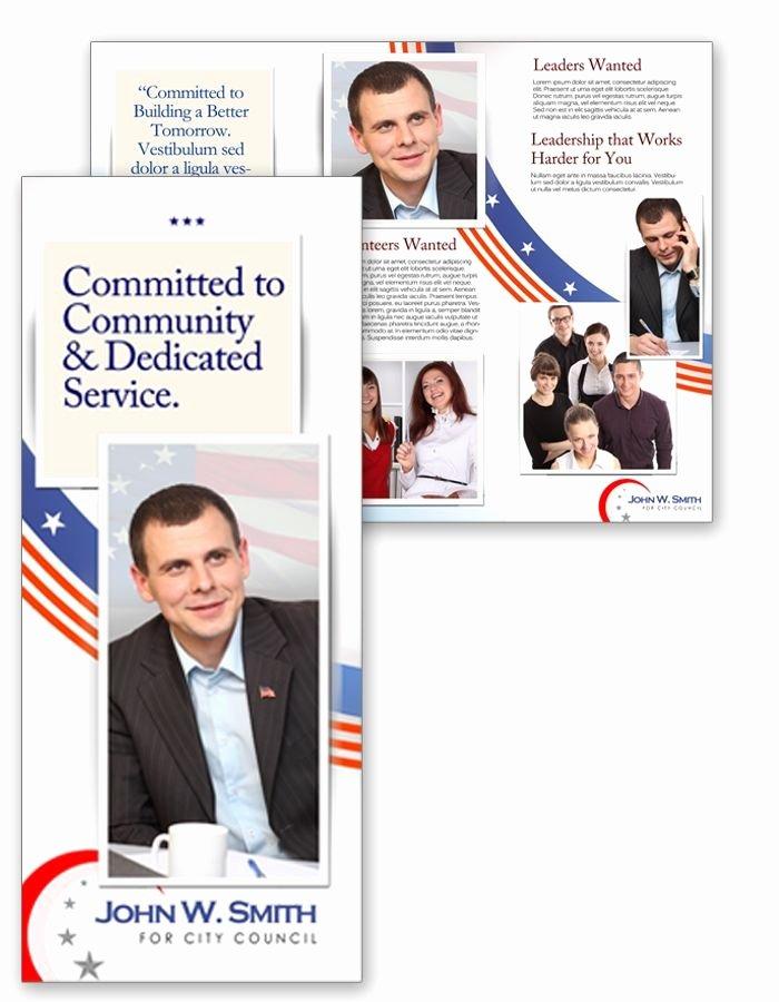 Political Campaign Plan Template Luxury Political Campaign Brochure Designs