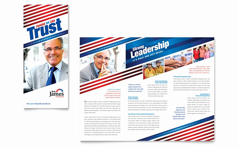 Political Campaign Plan Template Luxury Political Campaign Tri Fold Brochure Template Word