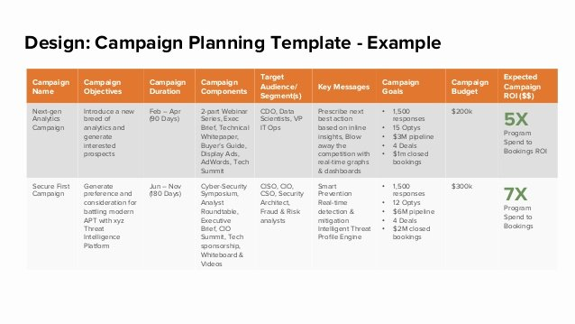 Political Campaign Plan Template New Design Campaign Planning Template