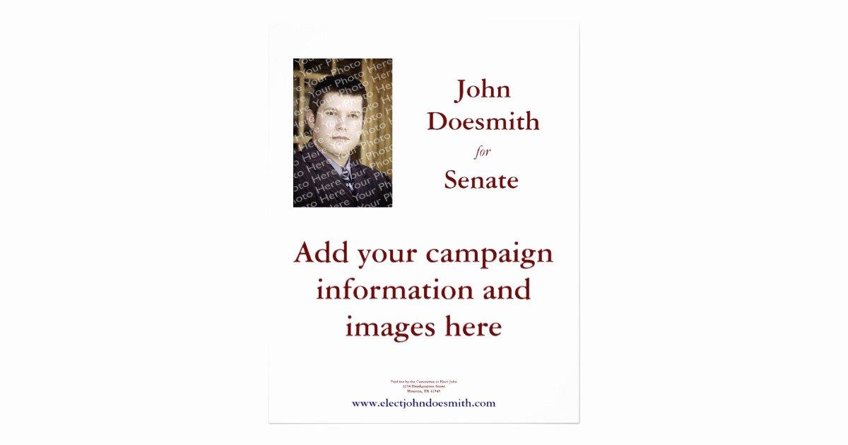 Political Campaign Plan Template Unique Political Campaign Flyer Template