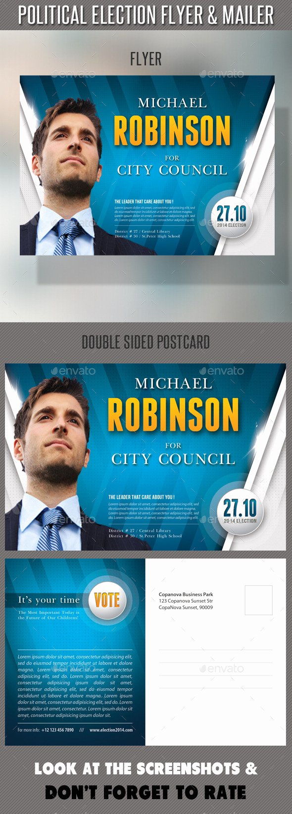 Political Flyer Template Free Beautiful Political Election Flyer and Mailer Template by Rapidgraf