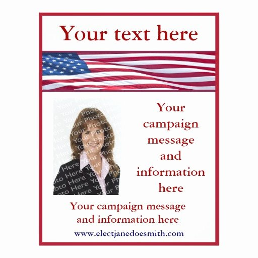 Political Flyer Template Free Elegant American Flag Election Campaign Flyer Template