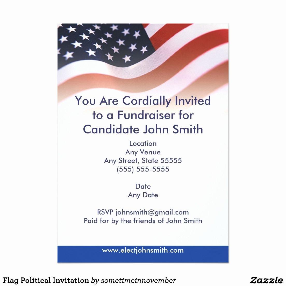 Political Flyer Template Free Elegant Political Fundraiser Flyer