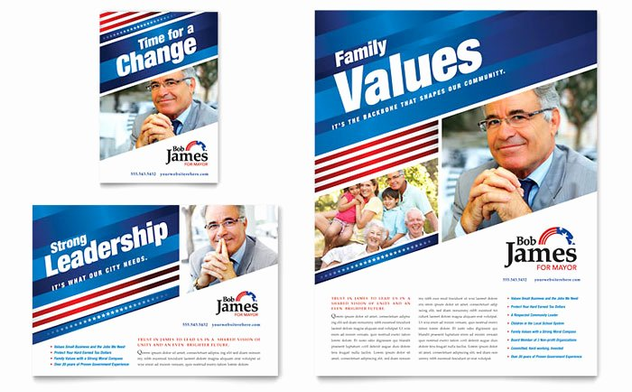 Political Flyer Template Free Lovely Political Campaign Flyer & Ad Template Design