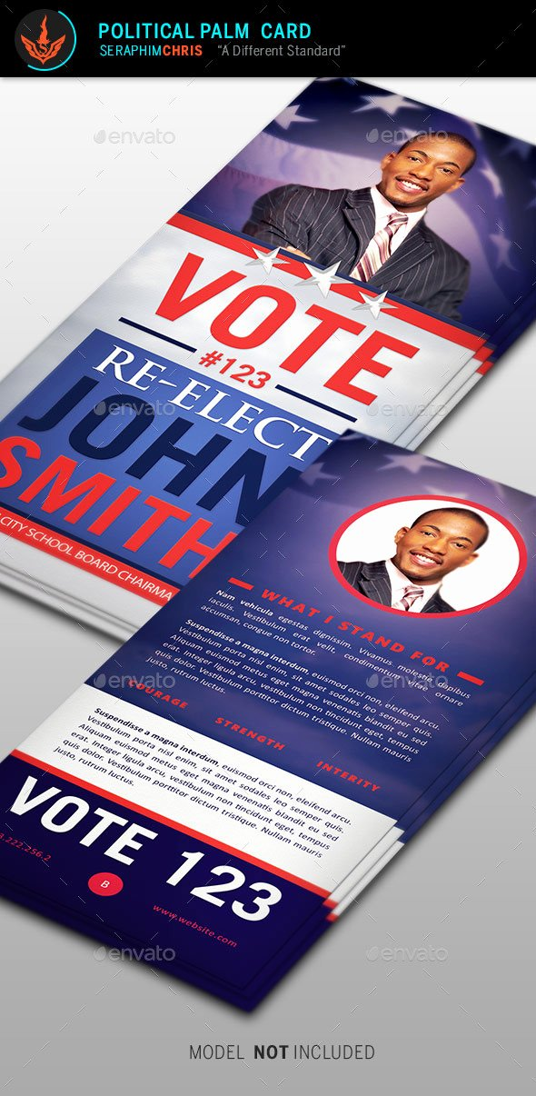 Political Palm Card Template Elegant Create Free Election Flyers Dondrup