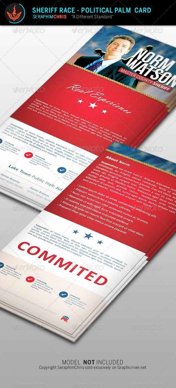 Political Palm Card Template Fresh Sheriff Race Political Palm Card Template by
