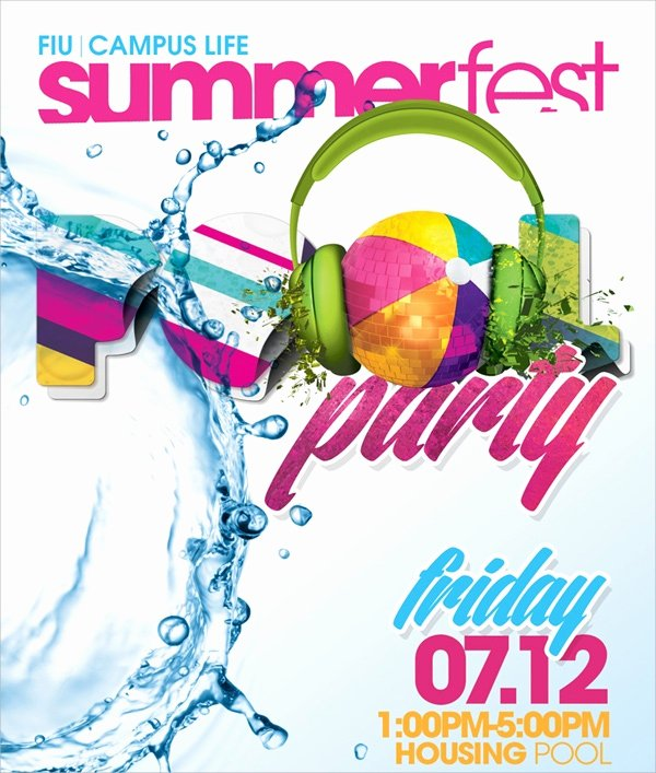 Pool Party Flyer Template Beautiful 18 Pool Party Flyer Templates