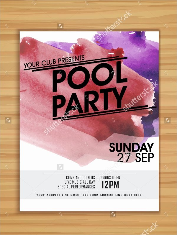 Pool Party Flyer Template Best Of 18 Pool Party Flyer Templates
