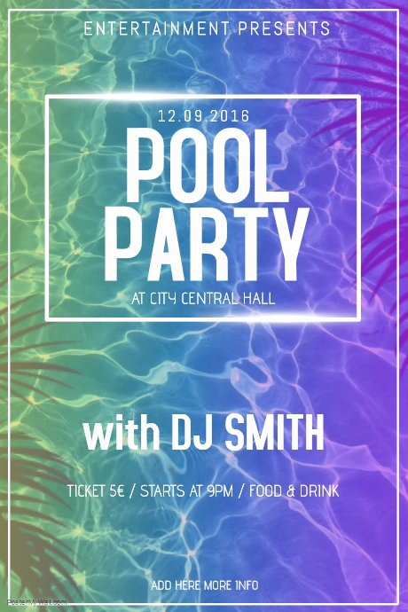 Pool Party Flyer Template Best Of Copy Of Pool Party Poster Flyer Template