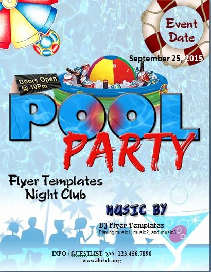 Pool Party Flyer Template Best Of Ms Word Pool Party Flyer Template