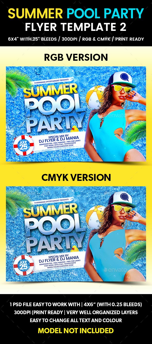 Pool Party Flyer Template Best Of Summer Pool Party Flyer Template 2 by Flyermania