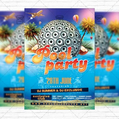 Pool Party Flyer Template Best Of Summer Pool Party – Premium Flyer Template Instagram