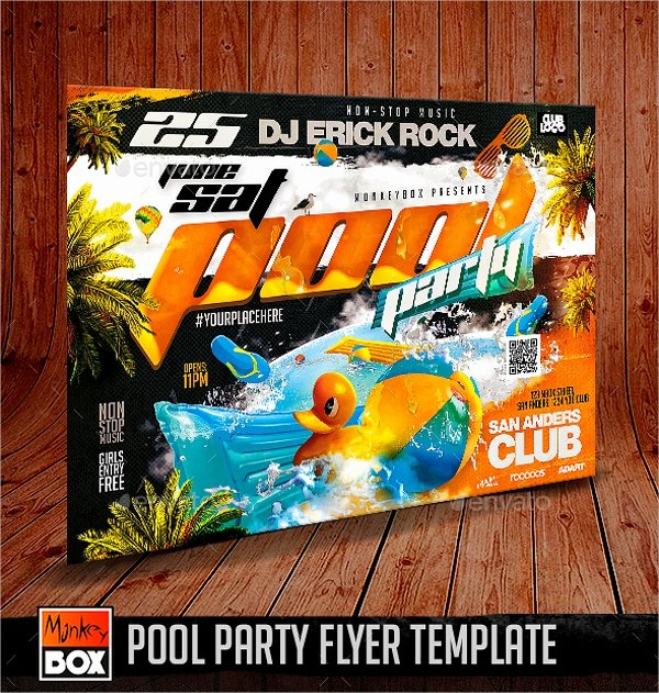 Pool Party Flyer Template Elegant 23 Pool Party Flyers Free Psd Word Ai Eps format