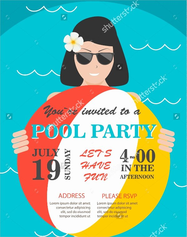 Pool Party Flyer Template Fresh 18 Pool Party Flyer Templates
