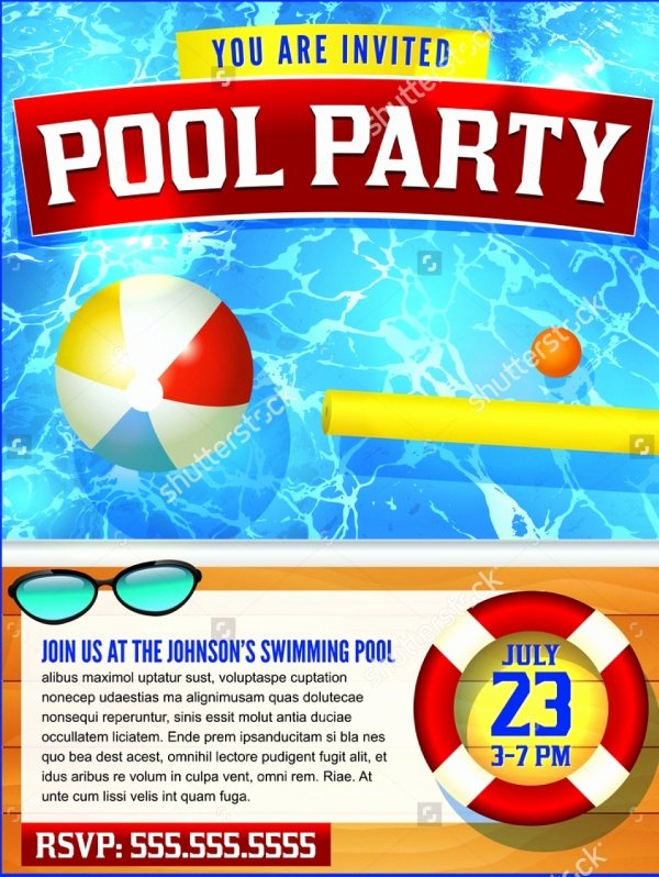 Pool Party Flyer Template Inspirational 20 Pool Party Flyer Designs Jpg Psd Ai Illustrator