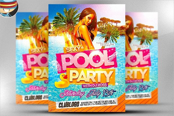 Pool Party Flyer Template Lovely 23 Pool Party Flyers Free Psd Word Ai Eps format