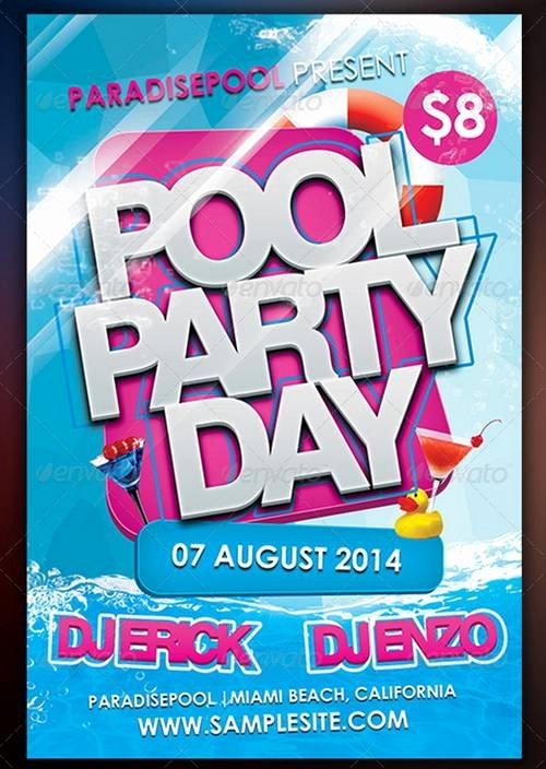 Pool Party Flyer Template Luxury 100 Awesome Flier or Flyer Templates Xdesigns