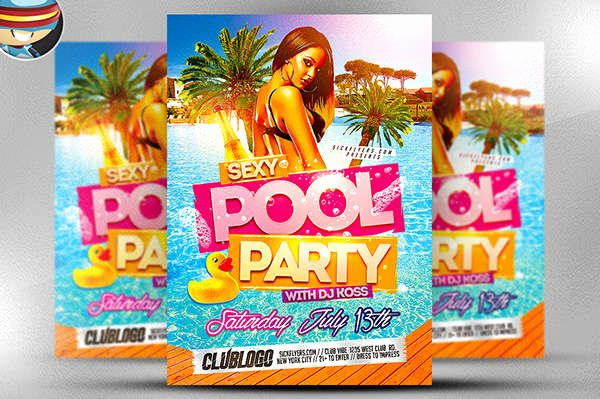 Pool Party Flyer Template Luxury 76 Party Flyer Examples Psd Ai Eps Vector