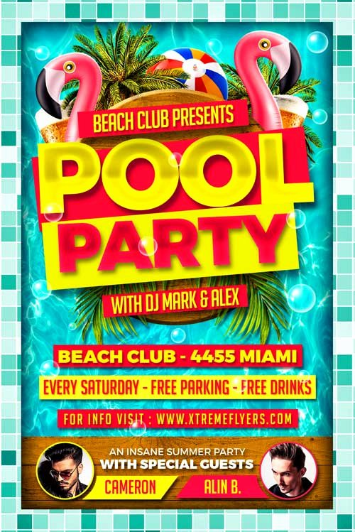 Pool Party Flyer Template Luxury Pool Party Flyer Template Ideasplataforma