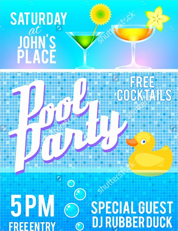 Pool Party Flyer Template New 18 Pool Party Flyer Templates