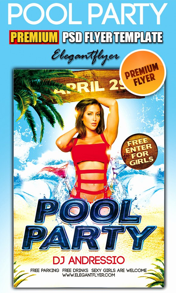 Pool Party Flyer Template Unique 12 Free Psd Flyer Templates Pool Pool Party Flyer
