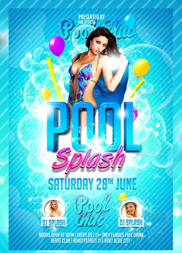 Pool Party Flyer Template Unique Pool Party Summer Party or Spring Party This Pool Splash